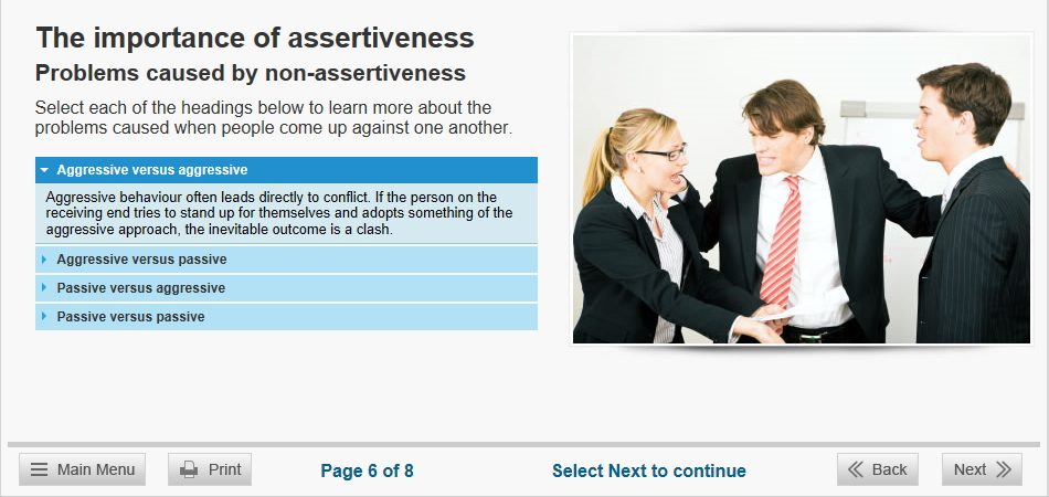 assertiveness training course