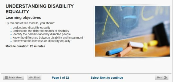 disability training
