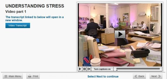 under stress pressure elearning