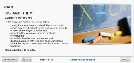 race discrimination elearning